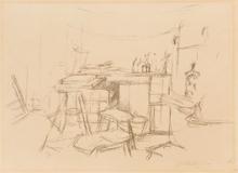 Alberto GIACOMETTI - Estampe-Multiple - The studio with bottles, from 'L'Atelier d'Alberto Giacomett