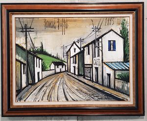 Bernard BUFFET - Painting - Rue de village