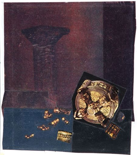 Shalom Siegfried SEBBA - Drawing-Watercolor - Gold Ornaments