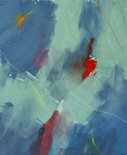 Milly RISTVEDT - Painting - Free Place, Blue Green