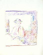 MARKO - Dibujo Acuarela - Femme au chapeau