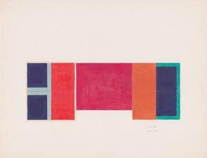 Bruce BOICE - Dibujo Acuarela - Composition 6-21-76