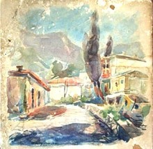 Konstantin A. KOROVIN - Drawing-Watercolor - View in Crimea