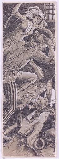 """Maximilian LIEBENWEIN - 水彩作品 - """"Tale Illustration"""", Ink Drawing"""