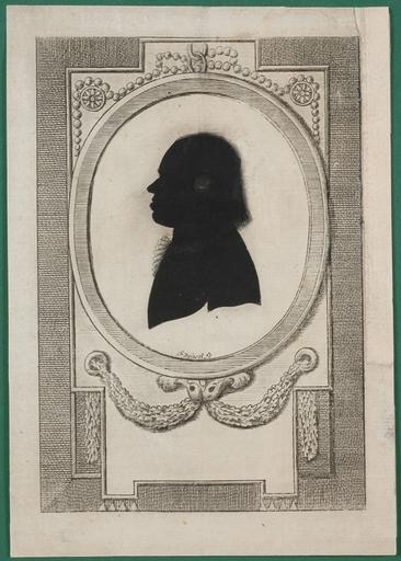 "Frank DEIWEL - Miniature - ""Silhouette Portrait"", Signed"