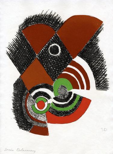 """Sonia DELAUNAY - Print-Multiple - """"Juste Présent"""" de Tristan Tzara planche 7"""