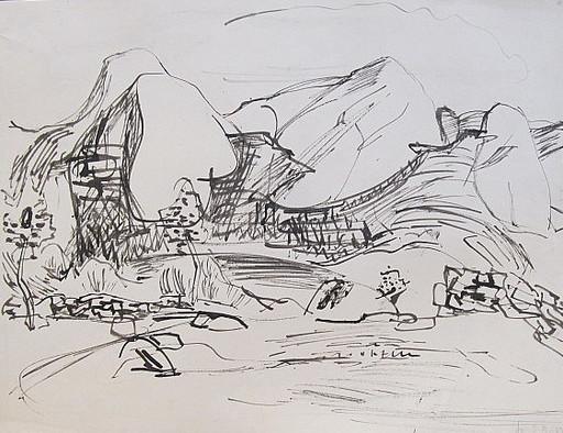 Erich HARTMANN - Dibujo Acuarela - #19926: Norwegen.