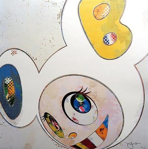 Takashi MURAKAMI - Grabado - And Then 3000 White