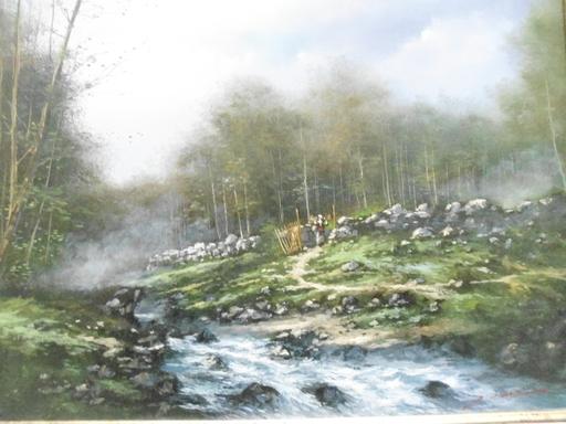 Serge CUCCA - Peinture - L'entrée de la forêt.