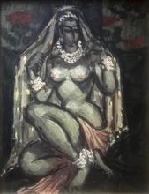 Emile François CHAMBON - Peinture - Oriental nude female of the harem - Hommage to Van Dongen