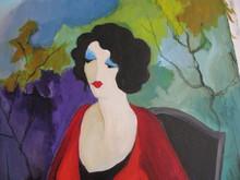 Isaac TARKAY - Peinture - *Three Woman Under Unbrella