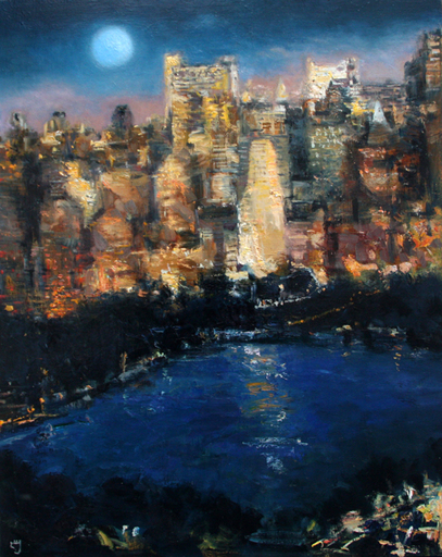 Levan URUSHADZE - Pittura - Blue Moon. NY City