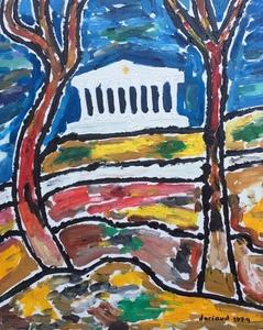 Christian DURIAUD - Pintura - Temple antique