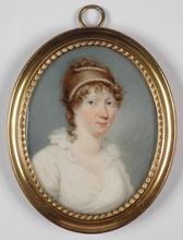 "J.T. MITCHELL - Miniature - ""Portrait of a Lady"", 1802, Miniature on Ivory"
