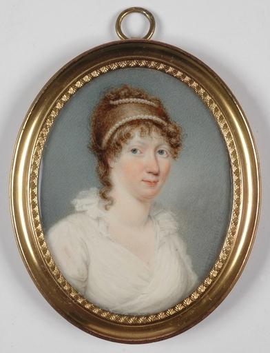 """J.T. MITCHELL - Miniatura - """"Portrait of a Lady"""", 1802, Miniature on Ivory"""