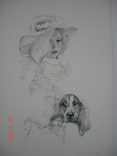 Renzo VESPIGNANI - Print-Multiple - Bambina con cane