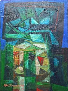 Raul Enmanuel POZO - Pintura - La cabeza con varios sentidos