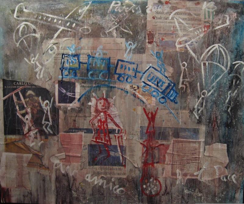 Vittorio BELLINI - Peinture - Il treno Felice