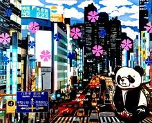 Hiro ANDO - Gemälde - going to hachioji