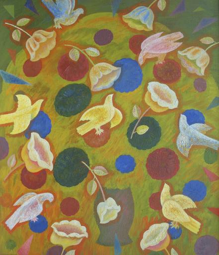 "Sergey BORISOV - Gemälde - Bouquet ""Birds and Flowers"""