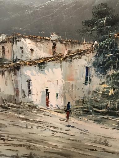 Jose Ignacio RIUS - Painting - Ville de la Montagne
