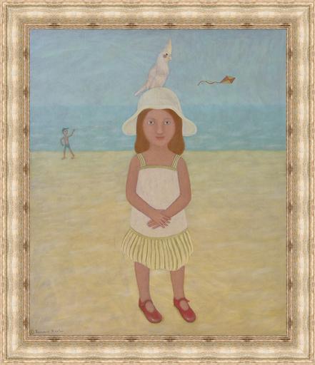 Roman ANTONOV - Painting - Portrait with a Parrot