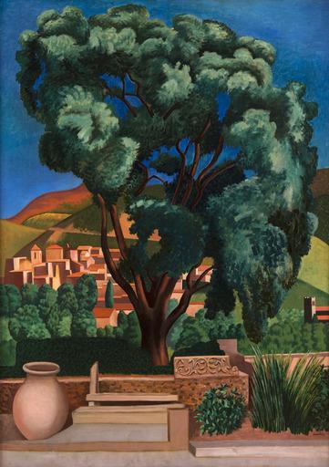 Auguste HERBIN - Painting - Chêne-liège à Vaison-la-Romaine