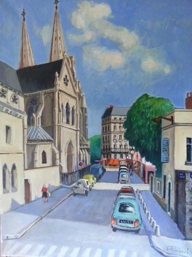 Pierre ROSSIGNOL - Pintura - Rue Lassus à Paris