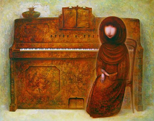 Amur KOCHISHVILI - Gemälde - Pianist