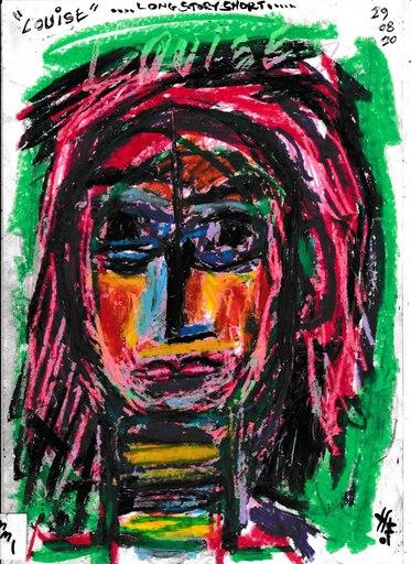 Harry BARTLETT FENNEY - Disegno Acquarello - louise