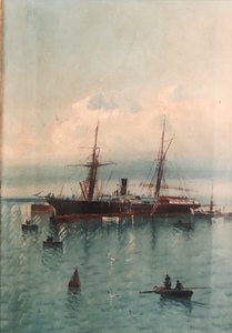 Fernando BLASCO HUESO - Peinture - Barcos en el puerto