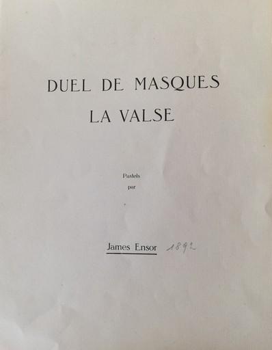 James ENSOR - Drawing-Watercolor - Duel de Masques and La Valse + cover