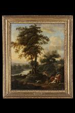 Giovanni Battista CIMAROLI - Pintura - Landscape with Mars and Venus