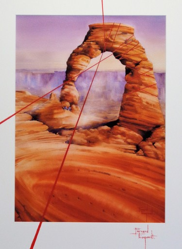 Fernand THIENPONDT - Dessin-Aquarelle - From rock to sand you can't stop it