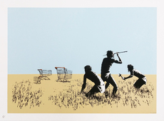 BANKSY - Estampe-Multiple - Trolleys