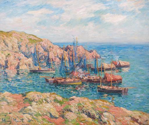 Henry MORET - Painting - Anse de Groix