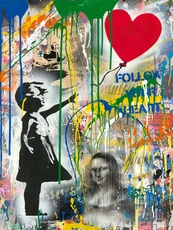 MR BRAINWASH - Pintura - Balloon Girl (Mona Lisa)
