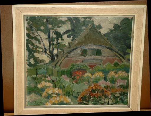 Adolf Heinrich WRIGGERS - Painting - Bauernhaus im Hammer Park
