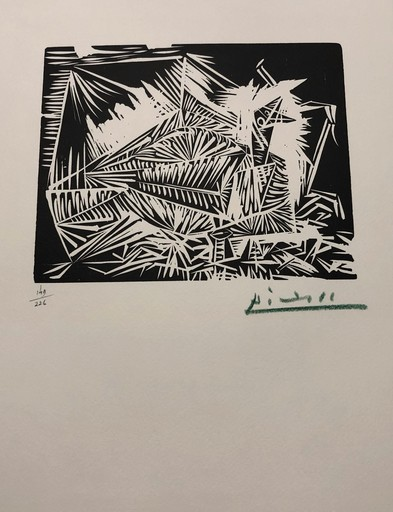 巴勃罗•毕加索 - 版画 - Pigeonneau, from 40 Dessins de Picasso en Marge du Buffon