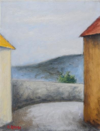 Ottone ROSAI - Peinture - Strada in collina