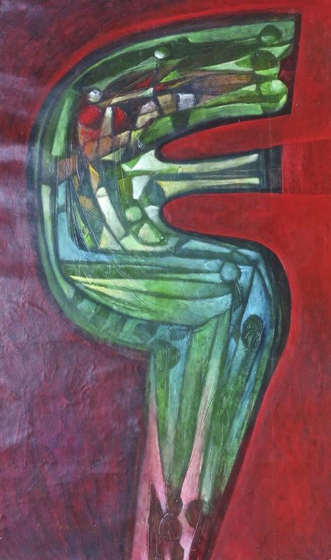Raul Enmanuel POZO - Pintura - Camaleon verde