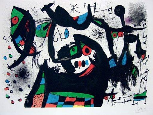 胡安·米罗 - 版画 - Homenatge a Joan Prats
