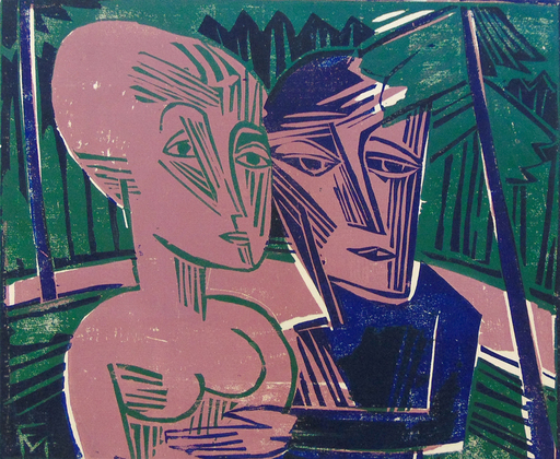 Conrad FELIXMÜLLER - 版画 - People in the Forest (Couple in the Forest) | Menschen im Wa