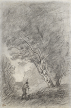 Camille Jean-Baptiste COROT - Drawing-Watercolor - Paysage / Verso: Landscape Study