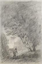 Camille Jean-Baptiste COROT (1796-1875) - Paysage / Verso: Landscape Study