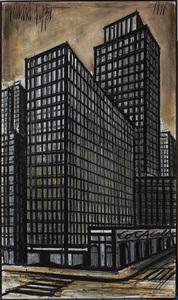 Bernard BUFFET - Gemälde - New York, Daily News building
