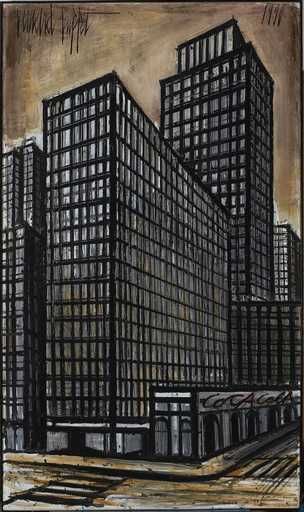 Bernard BUFFET - Painting - New York, Daily News building