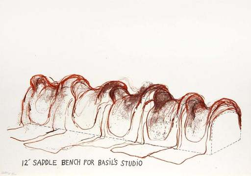 Jim DINE - Stampa-Multiplo - 12' Saddle Bench for Basil's Studio