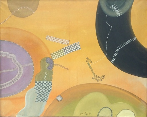 Sergio DANGELO - Painting - Ritmi giocondi dell'autostrada