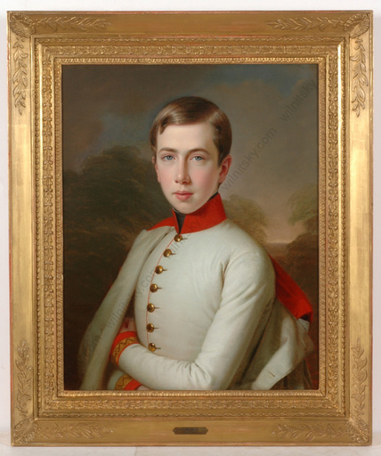 "Anton EINSLE - Gemälde - ""Archduke Karl Ludwig at the age of 15"", important oil paint"